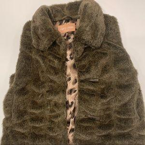 Sherry Cassin Faux Fur Vest